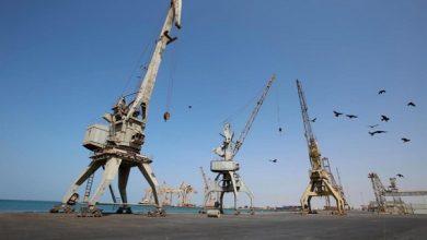 "Photo of ""5"" سفن ترسو في أرصفة ميناء الحديدة"