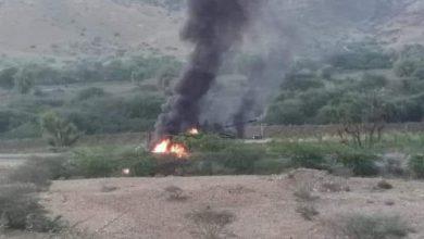 Photo of هجوم صاروخي يستهدف ناقلة عسكرية شرق أبين