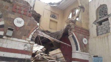 Photo of انهيار جزئي لمبنى المتحف الوطني بتعز