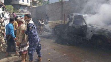 Photo of تعز .. إصابة 7 أشخاص بينهم طفلان بإنفجار عبوة ناسفة استهدفت طقم عسكرية