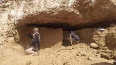 Photo of العثور على مقتنيات فخارية وحجرية بالمقبرة الأثرية المكتشفة في حضرموت