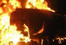 Photo of لحج .. احتراق قاطرة غاز اثر احتجاجات على انقطاع التيار الكهربائي