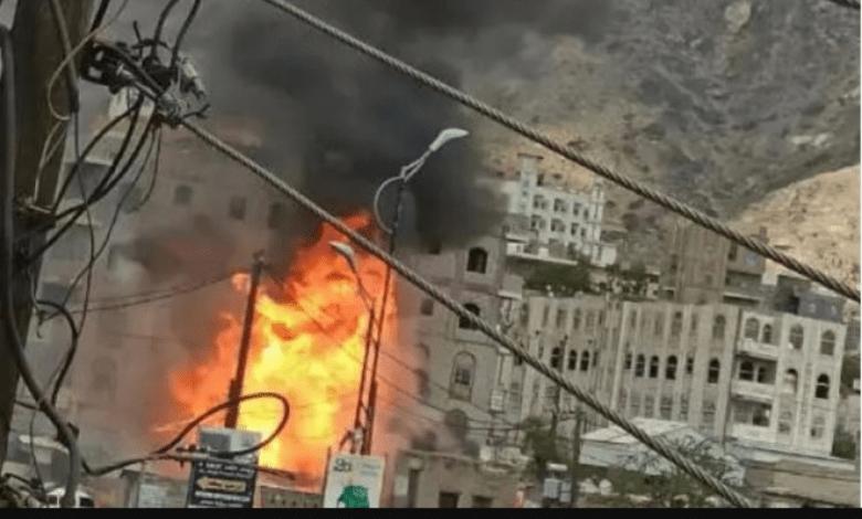 Photo of انفجار محطة لتعبئة الغاز بتعز