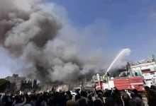Photo of صنعاء .. حريق هائل يلتهم أحد المراكز التجارية